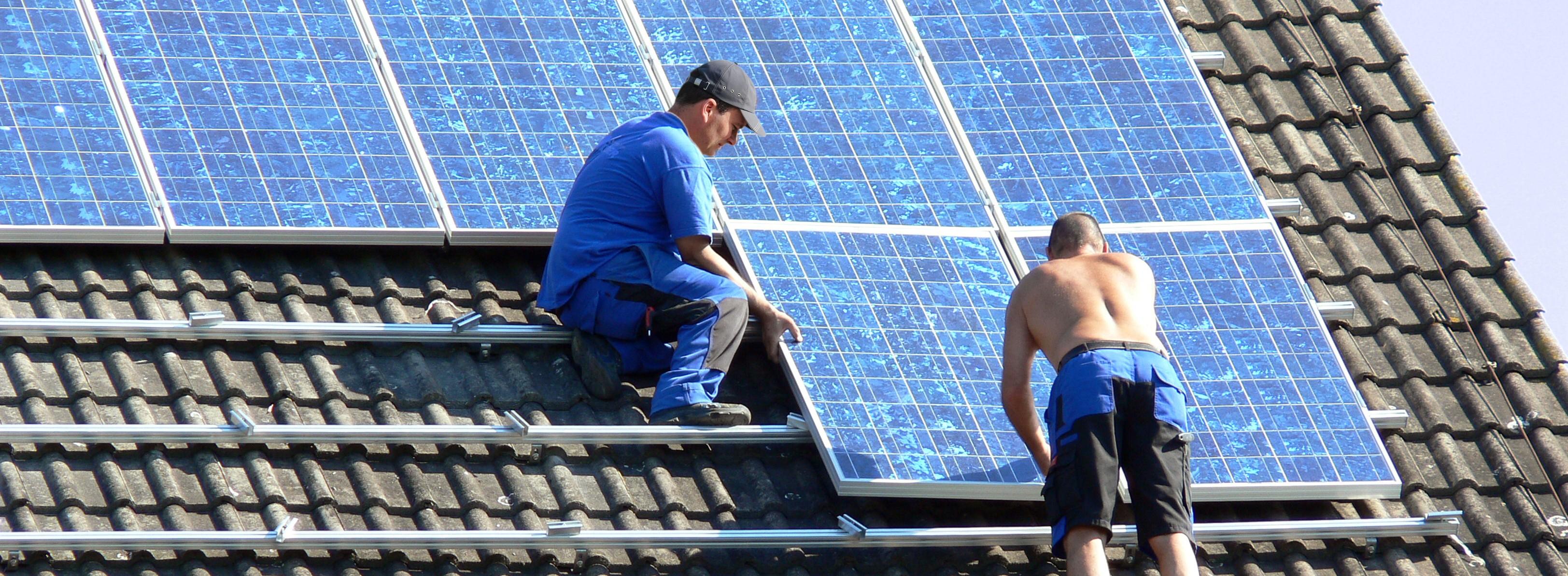 Montage einer Solarstromanlage